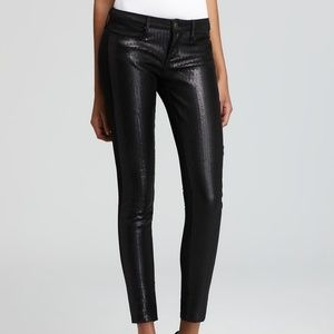 Earnest Sewn Black Skinny Coated Sequin Jeans